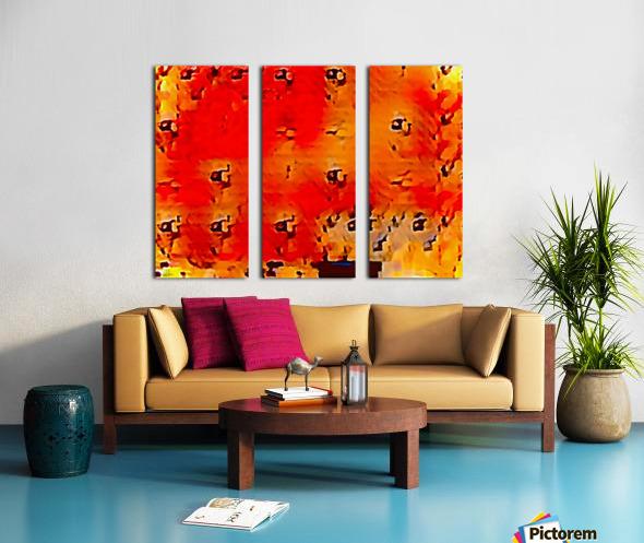 Nature The  Art of Blushing Split Canvas print
