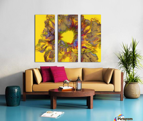 Fire Bloom  Split Canvas print