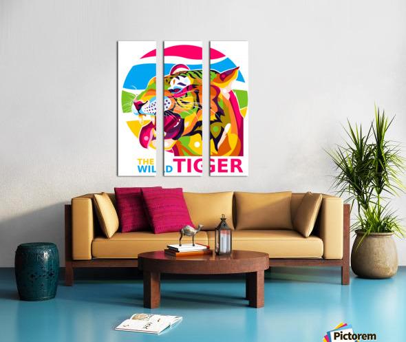 The Wild Tiger Split Canvas print