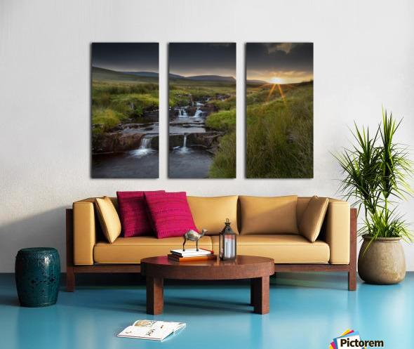 River Tawe sunset Split Canvas print