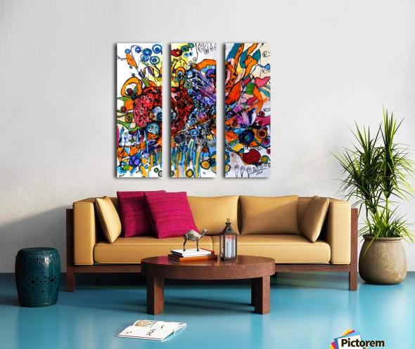 geana pamantului Split Canvas print