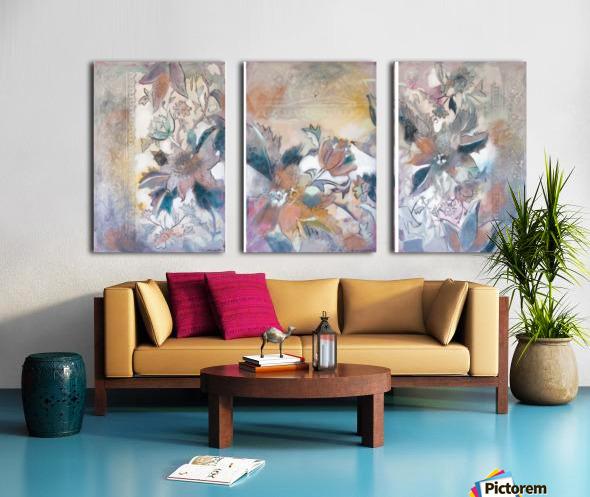 Riverton Wallpaper Tracings Triptych Split Canvas print