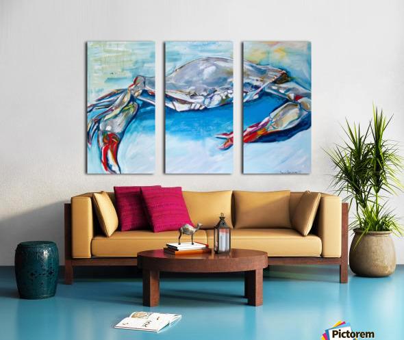 Louisiana She Soft Shell Crab Split Canvas print