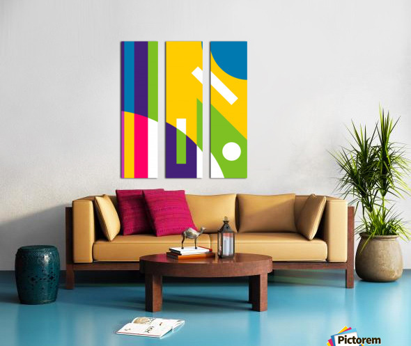 2 White Lines in Abstract Background Split Canvas print