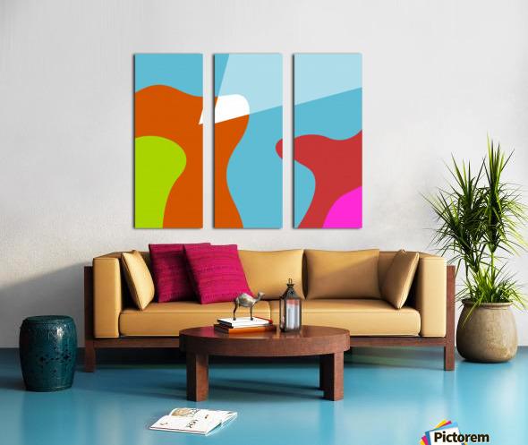 The Valley Split Canvas print