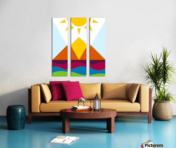 The Pyramid Split Canvas print