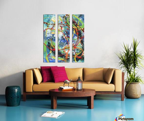 Colour Carnival III Split Canvas print