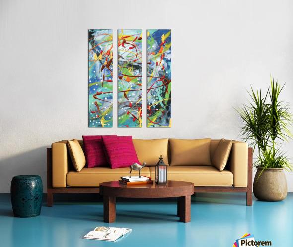 Colour Carnival I Split Canvas print