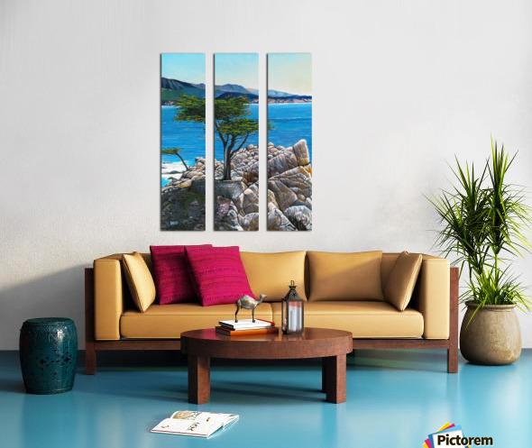 Lone Tree at Pebble Beach Split Canvas print