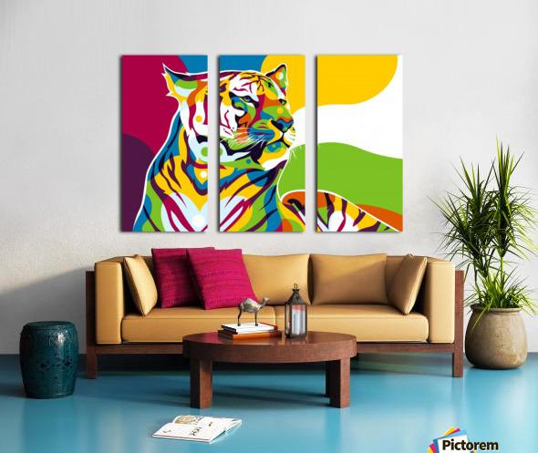 The King Tiger  Split Canvas print