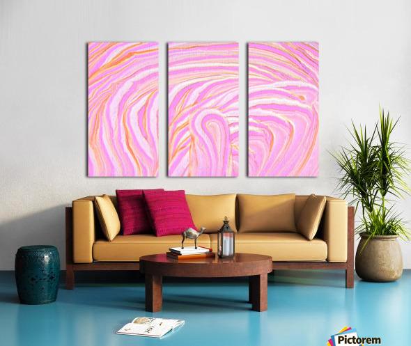 Pink Split Canvas print