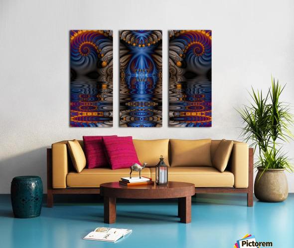 Blue Flame Split Canvas print