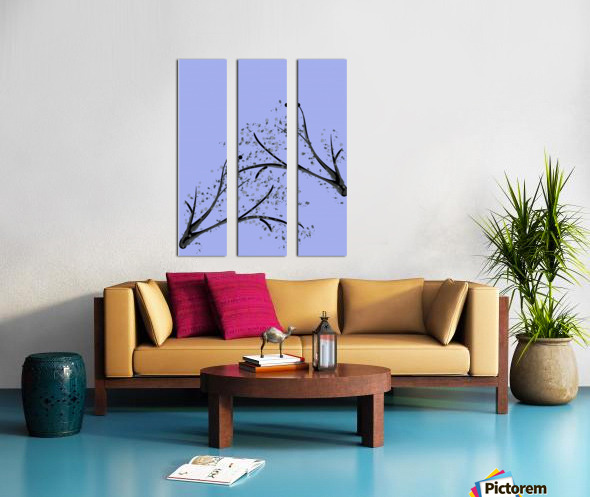 watercolor tree Split Canvas print