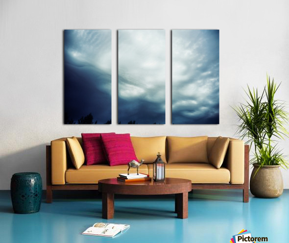 Psychedelic sky Split Canvas print