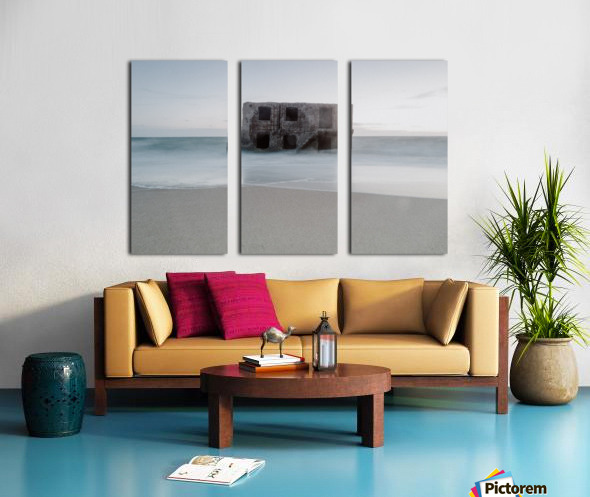 Fort in the sea Split Canvas print