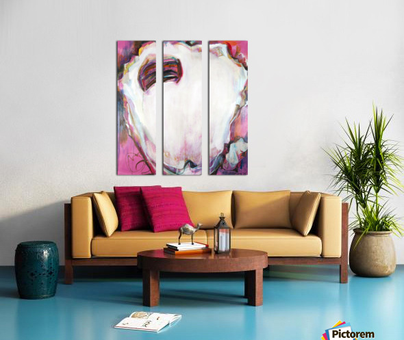 Large Louisiana Oyster with Hot Pink Split Canvas print