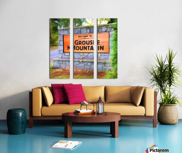 VNA5 - Vancouver North Shore Split Canvas print