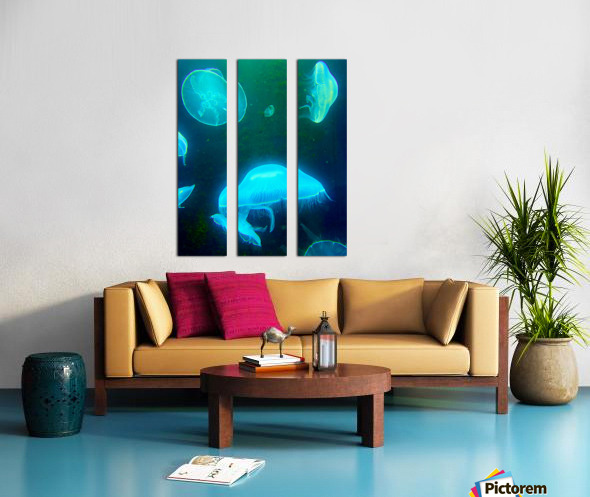 Venture into the Abyss Split Canvas print