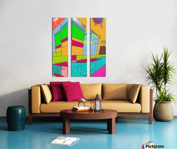498 Split Canvas print