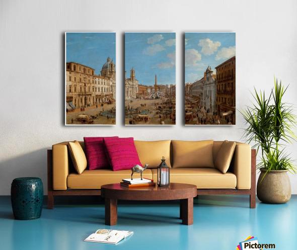 The Piazza Navona Split Canvas print