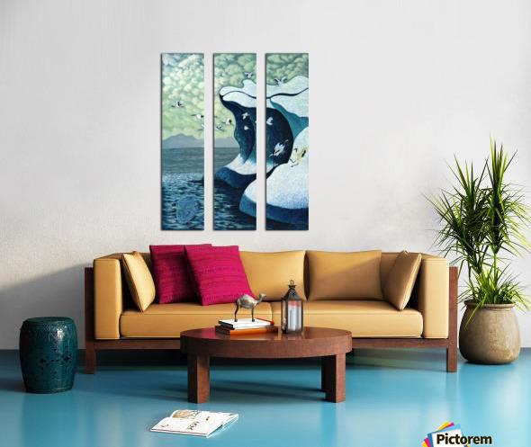 1991 013 Split Canvas print