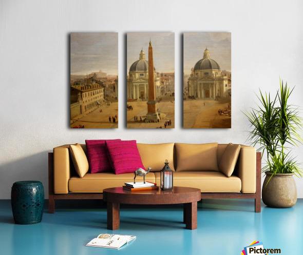 Veduta di Piazza del Popolo a Roma Split Canvas print