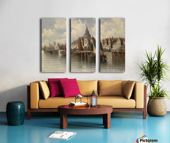 Blick auf eine Hafenstadt Split Canvas print