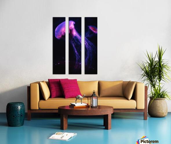 Neon Jelly Split Canvas print