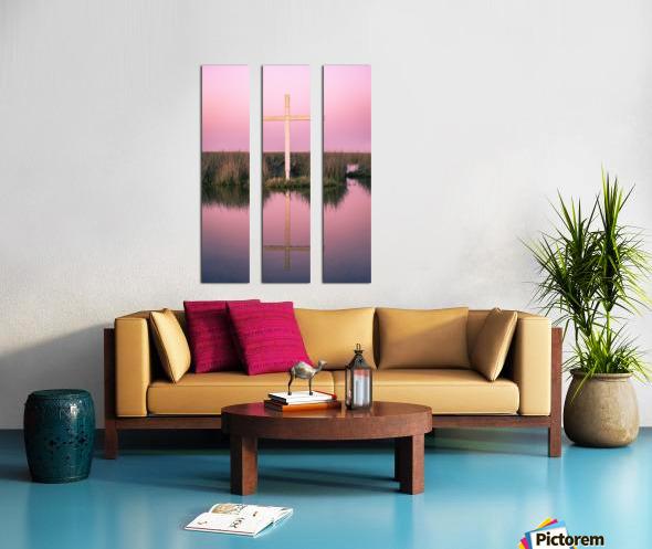 Double Crossed Split Canvas print