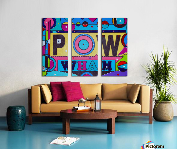 POW FOUR IN PLASTIC Split Canvas print