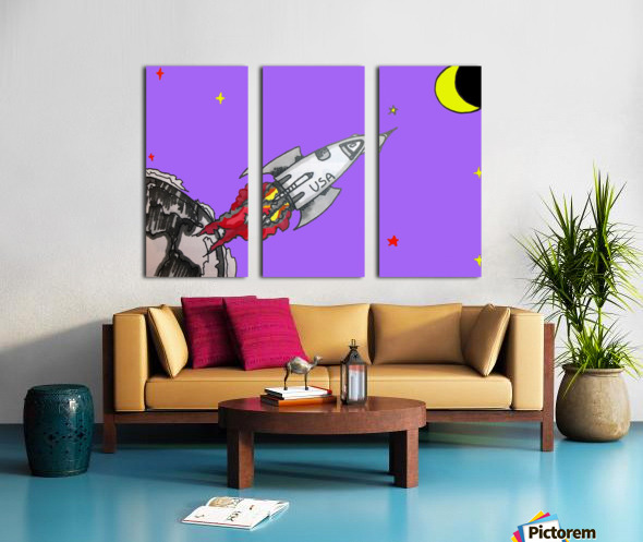 HAVE SPACE SHIP WILL TRAVEL Split Canvas print