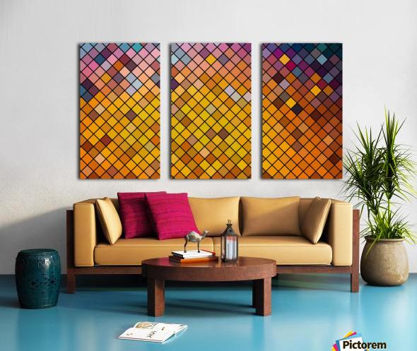 Mosaic Pattern Split Canvas print