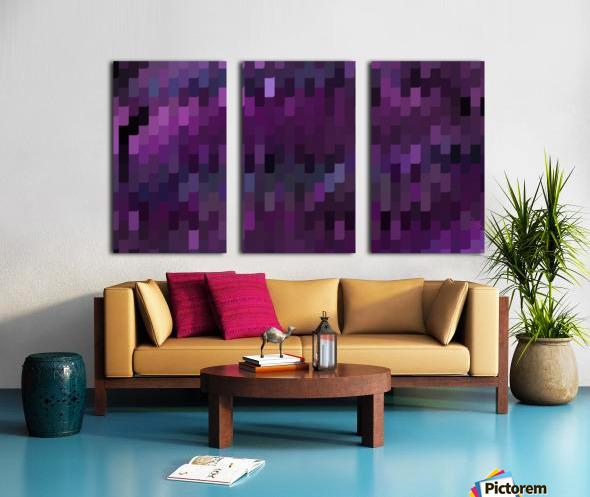 Blue Mosaic Pattern Split Canvas print