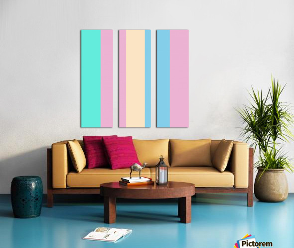 Pastel Palette Split Canvas print