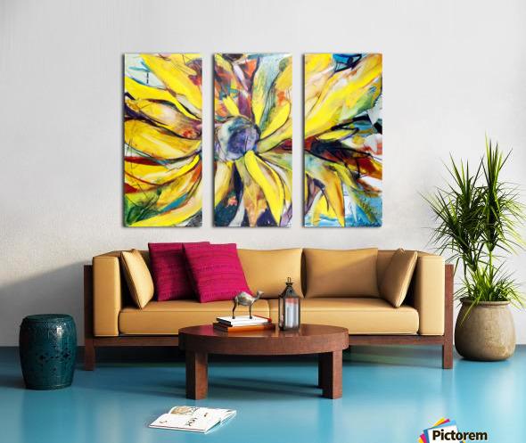 Louisiana Sunflower II Split Canvas print