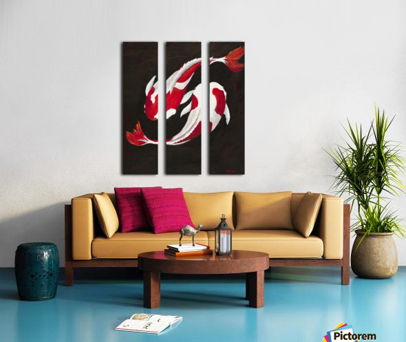Yin and Yang Split Canvas print