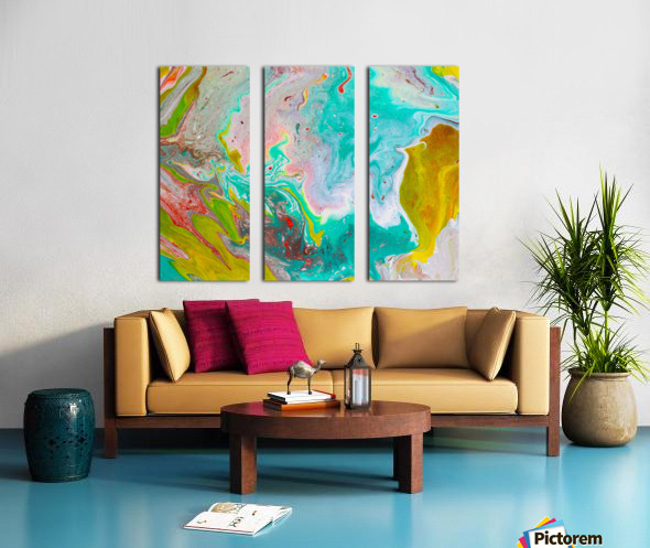 unTeal Split Canvas print