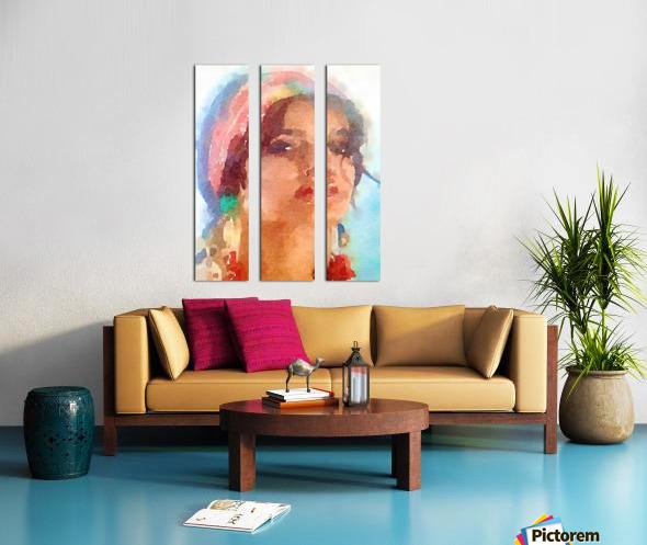 Esmeralda Split Canvas print
