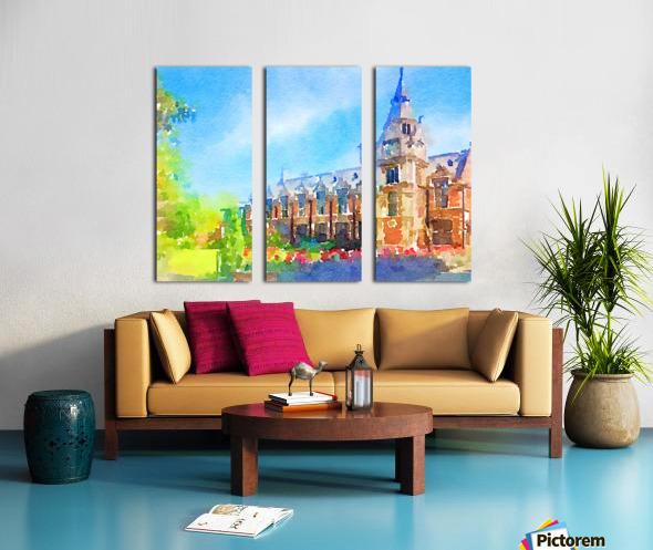 Pembroke collegeCambridge Split Canvas print