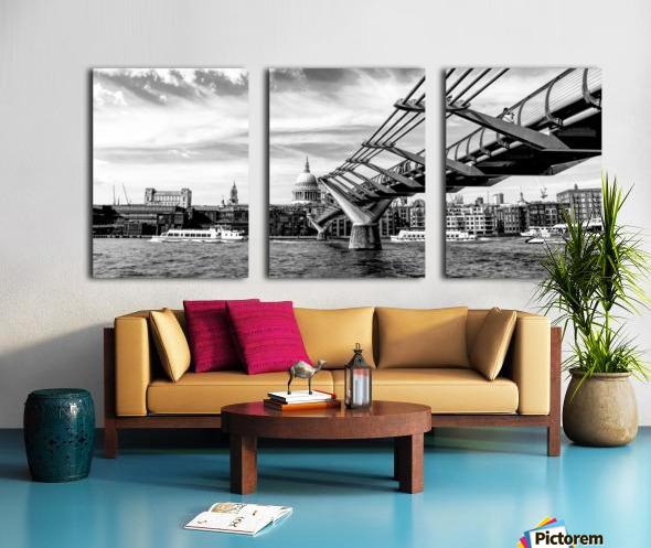 River Thames - London city skyline Split Canvas print