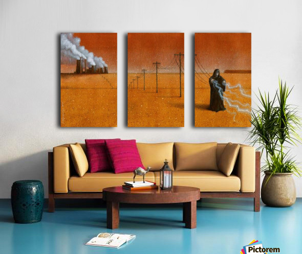 dark industry Split Canvas print