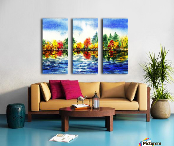 Fall Reflections Split Canvas print