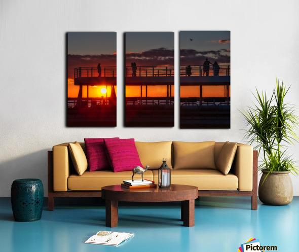 Coucher de  soleil sur Rimouski Toile Multi-Panneaux