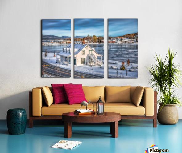 Premiere neige sur Gaspe Split Canvas print