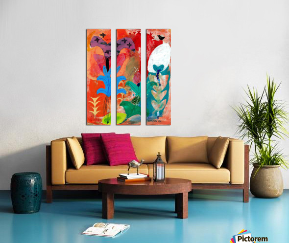 There You Are Split Canvas print