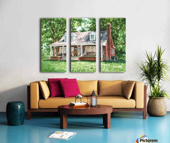 East Coast Summer Split Canvas print