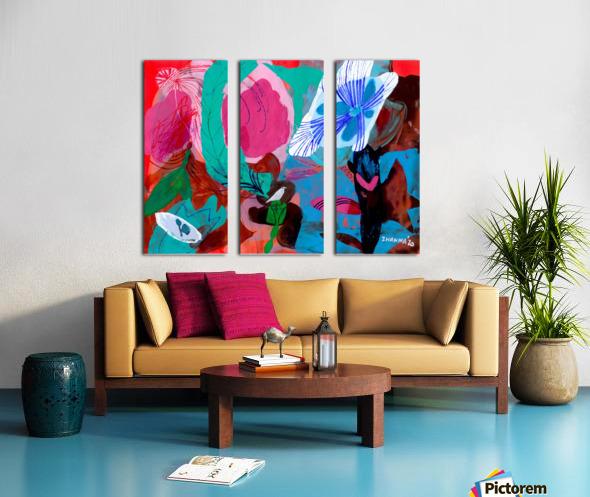 Green Feather Split Canvas print