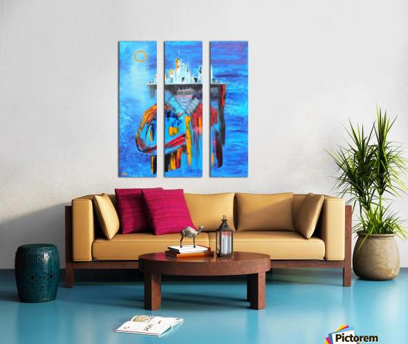 Goddess Split Canvas print