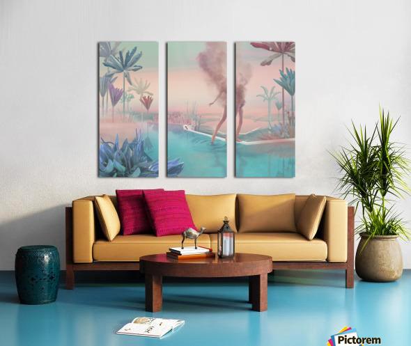 happy hot evening Split Canvas print