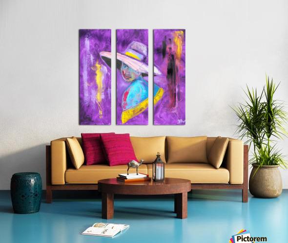 Woman in violet Split Canvas print